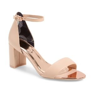 Ted Baker London Sheah Leather Block Heel Sandal